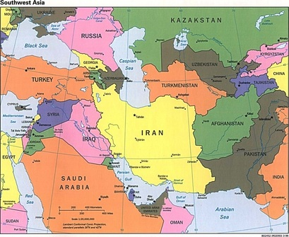 Map Iran Web Quest